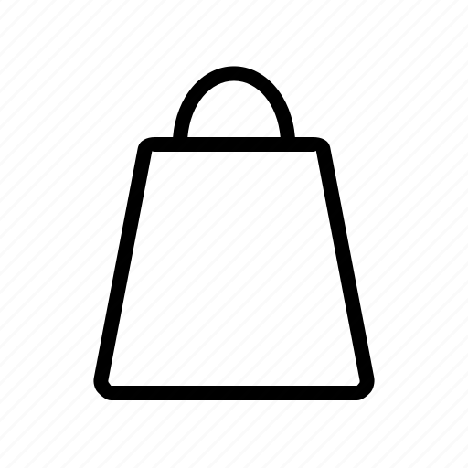 bag, basket, buy, cart, line, purchase, service icon