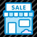 offline, online, sale, sales, shop icon