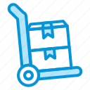 online, sales, shop, stock, trolley icon