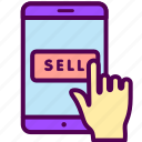 ecommerce, online, sales, sell, shop, smartphone icon