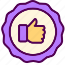 ecommerce, online, sales, shop, thumbs, up icon