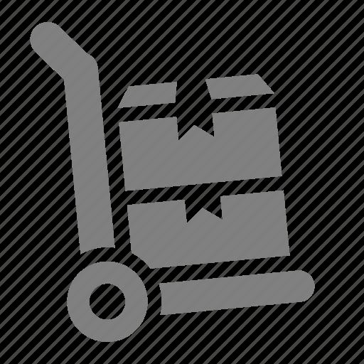 box, online, sales, shop, stock, trolley icon