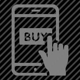 buy, online, sales, shop, smartphone icon