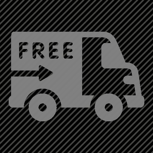 box, car, delivery, free, online, sales, shop icon