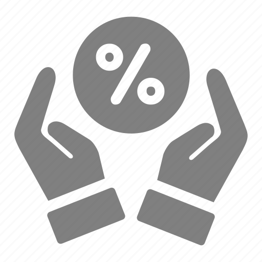 discount, giving, online, percent, sales, shop icon