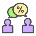 business, customer, discount, marketing, sales, talk icon