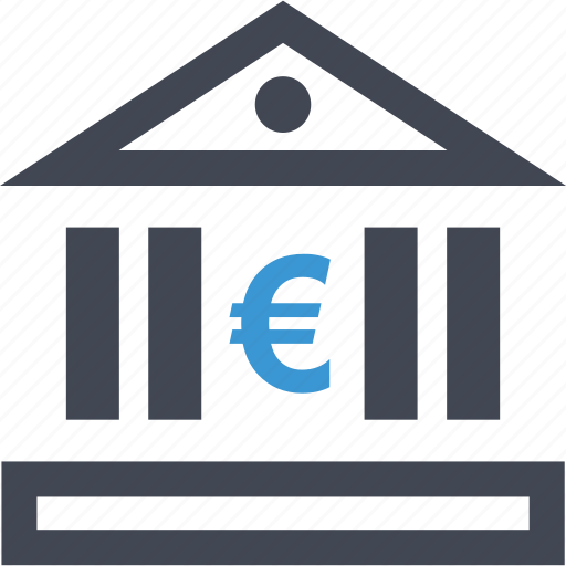 bank, banking, euro, loan, pay, payment, sign icon