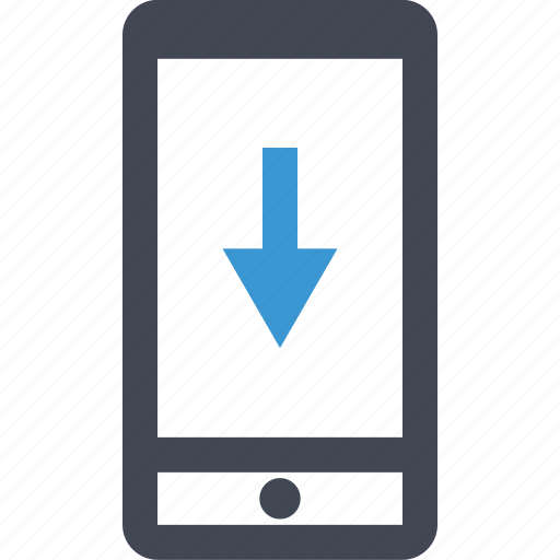 Arrow, cell, down, download, file, phone, save icon - Download on Iconfinder