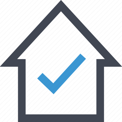 approved, check, home, housing, loan, mark, ok icon