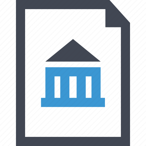 bank, banking, business, contract, equity, home, loan icon