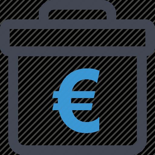 briefcase, case, euro, pro, professional, sign icon