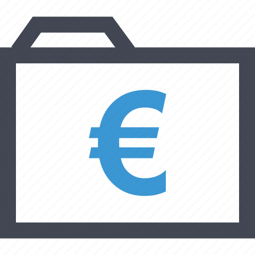 archive, currency, euro, files, money, sign, wealth icon