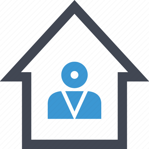 businessman, home, house, person, professional, realtor icon