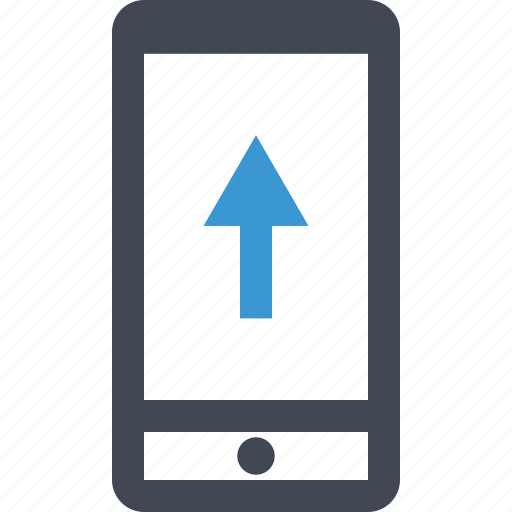 cell, data, files, mobile, phone, send, upload icon