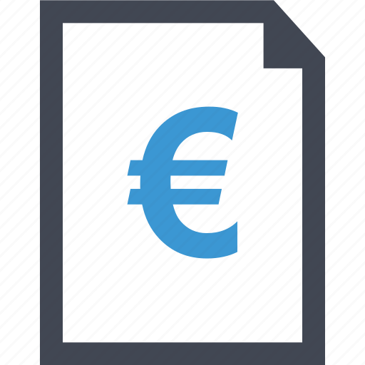 contract, document, euro, layout, money, page, sign icon
