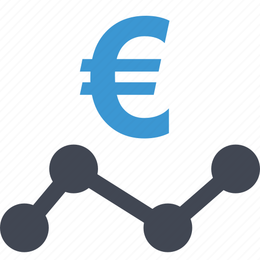 analytics, currency, euro, money, payment, sign, wealth icon