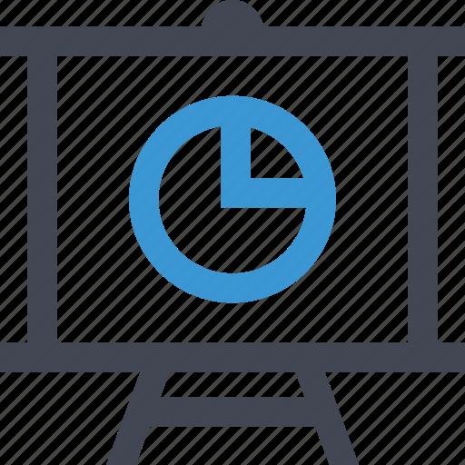 analytics, chart, graph, pie, presentation, report, teach icon