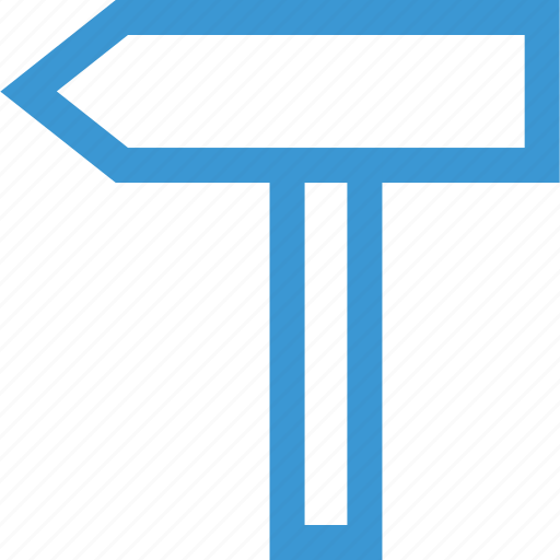 business, left, point, pointer, road, sign, way icon