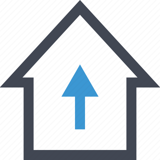 connect, equity, files, home, house, housing, upload icon