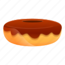 cake, chocolate, donut, drawing, food, icing icon