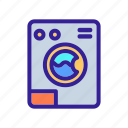contour, machine, sanitation, service, wash icon