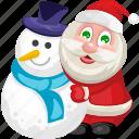 christmas, santa, santa claus, snowman, xmas icon