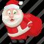 christmas, holiday, present, santa, santa claus, xmas icon