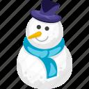 christmas, holiday, santa claus, snow, snowflake, snowman, winter icon