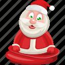 christmas, present, santa, santa claus, xmas icon