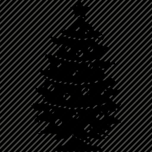 christmas, christmas tree, ornaments, tree icon