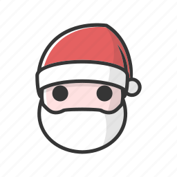 christmas, claus, emotion, mouth, speechless icon