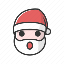 christmas, claus, holiday, surprise icon