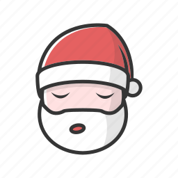 bored, christmas, claus, nap, sleep, sleeping, tired icon