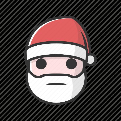 christmas, claus, emotion, santa, speechless icon
