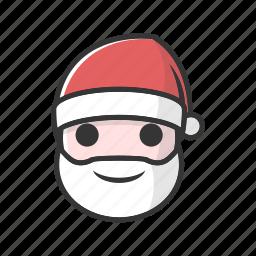christmas, claus, gift, good, happy, joy, smile icon