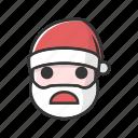 christmas, claus, devastated, sad, surprised, unhappy icon