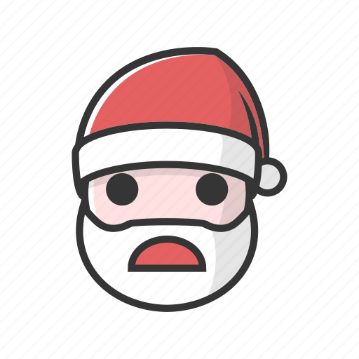 christmas, claus, devastated, sad, surprised, unhappy icon