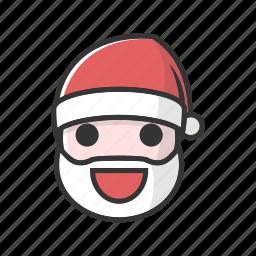 christmas, claus, good, happy, laugh, smile icon