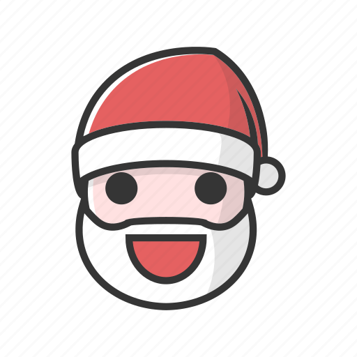 christmas, claus, good, happy, laugh, smile icon