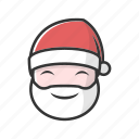 christmas, claus, gift, good, happy, holiday, smile icon