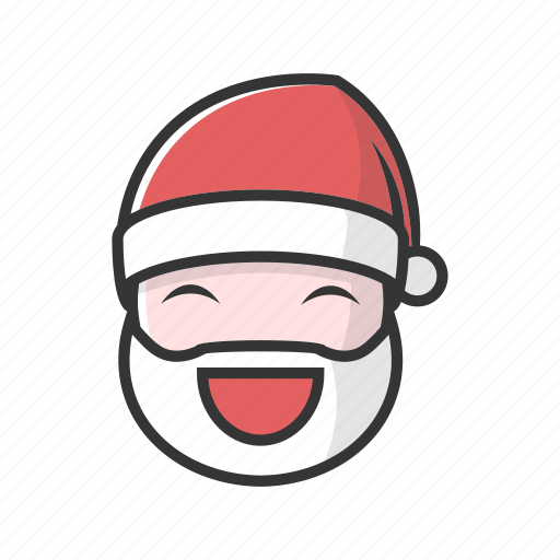christmas, claus, emotion, happy, joy, laugh, smile icon