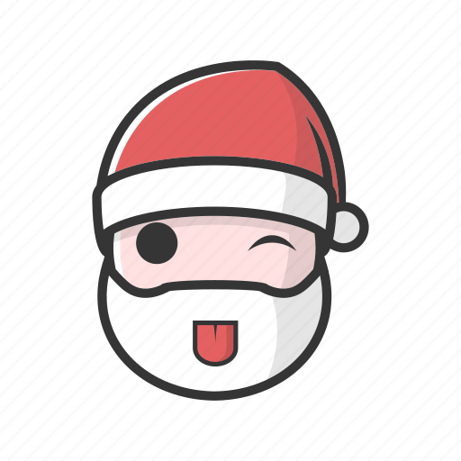 christmas, good, happy, playfull, smile, tongue icon