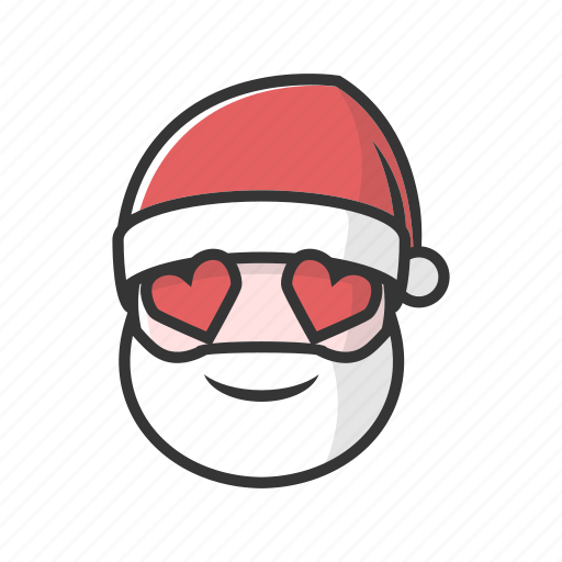 christmas, claus, good, happy, love, smile icon