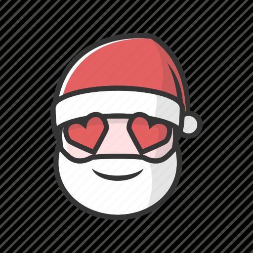 christmas, claus, good, happy, love, smile icon