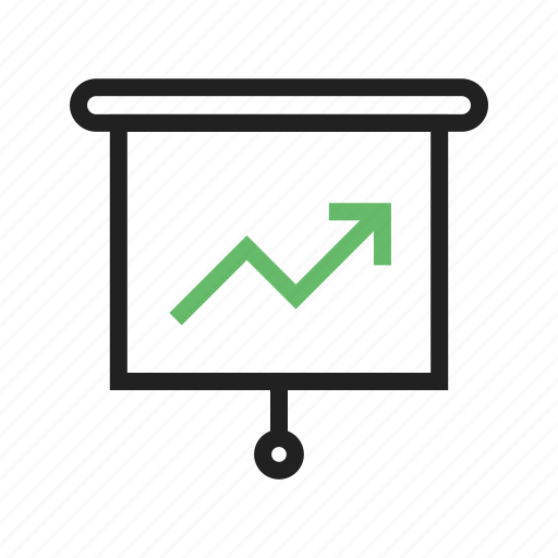 bar, business, chart, diagram, graph, growth, line icon