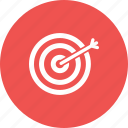 accuracy, arrow, center, dart, hit, success, target icon