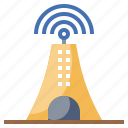 antenna, communication, electronics, satellite, space, station, tower icon