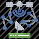 antenna, communication, electronics, receiver, satellite, space icon