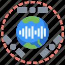 antenna, communication, electronics, satellite, space, station, wave icon