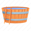 basin, retro, sauna, spa, water, woman
